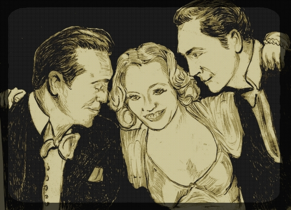 Miriam Hopkins, Gary Cooper, Fredric March par didgiv